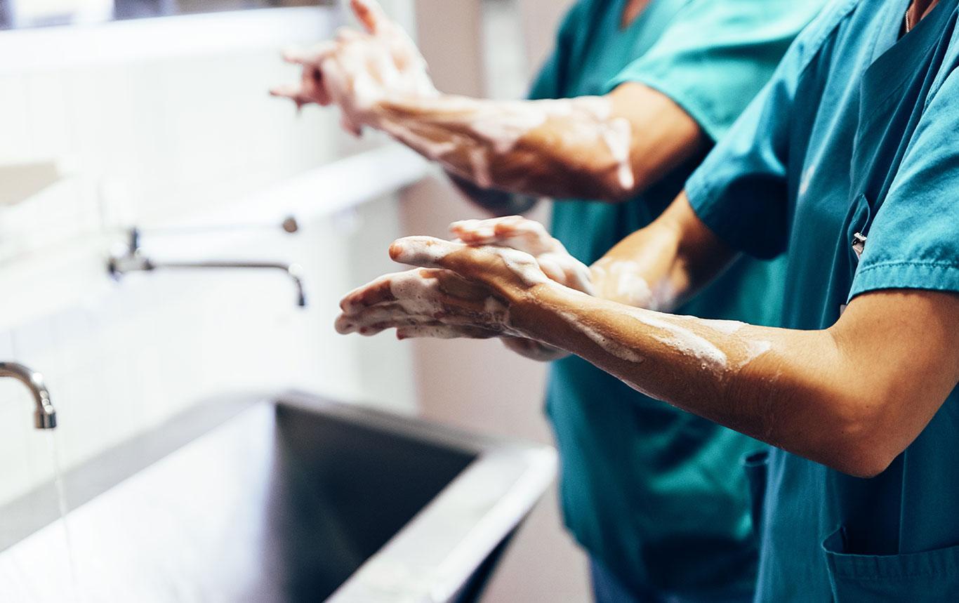 Druckregelung in Krankenhäusern
